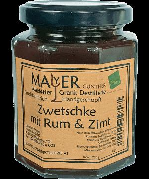 Zwetschkenmarmelade mit Rum & Zimt