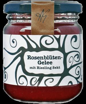 Rosenblütengelee mit Rieslingsekt