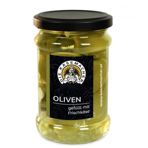 Oliven mit Frischkäse