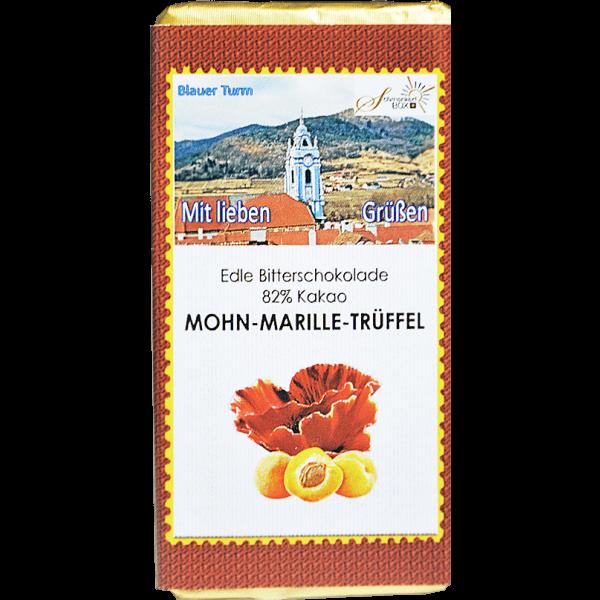 Mohn-Marille-Trüffelschokolade