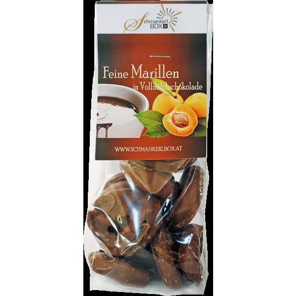 Marillen in Vollmilchschokolade