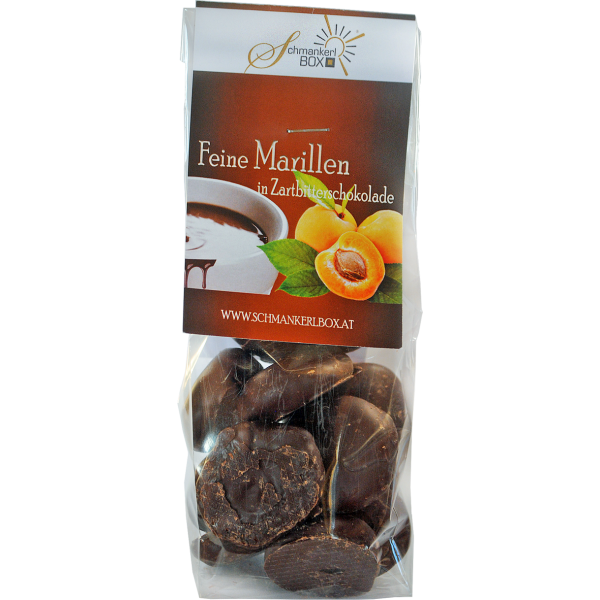 Marillen in Zartbitterschokolade