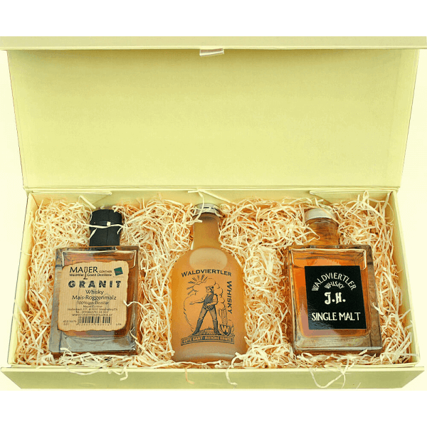 Geschenkkassette Whisky Trilogie Pure
