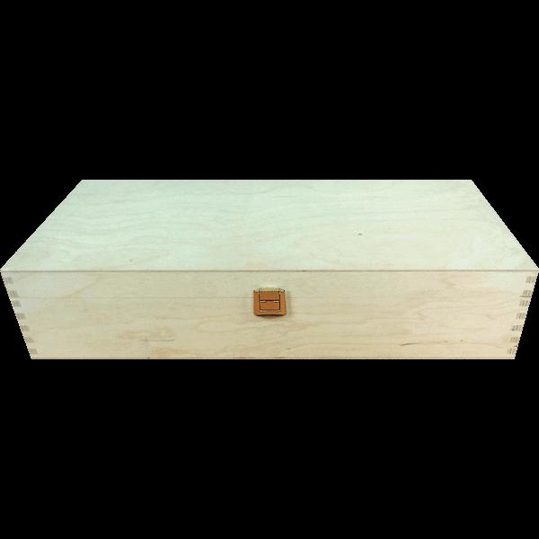 Geschenkkassette 2er Holz (40x18x8 cm)