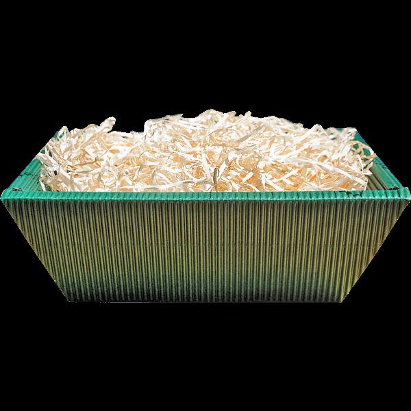 Geschenkkartonschale gruen (21x18,5x7 cm)