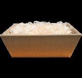 Geschenkkartonschale braun groß (27,5x23x10,5 cm)
